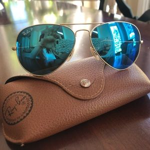 Ray-Ban Accessories - Ray-Ban Aviator Flash Lenses - Blue